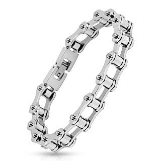 Motorcycle Chain Link 316L Stainless Steel Bracelet - Highway Thirty One