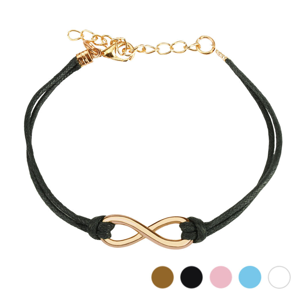 Infinity Symbol Leatherette Bracelet with adjustable lobster clasp - Highway Thirty One - 1