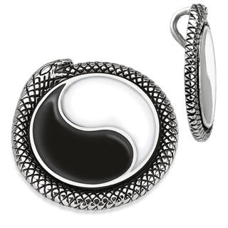 Ying Yang Medallion Stainless Steel Pendant - Highway Thirty One