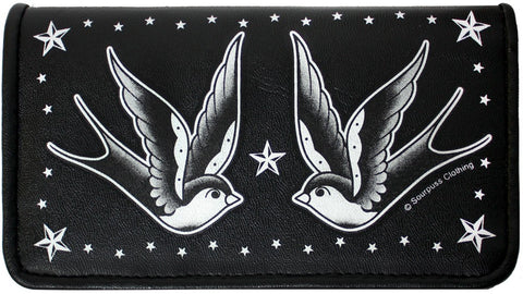 SOURPUSS SWALLOWS & STARS WALLET - Highway Thirty One