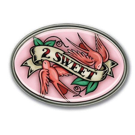 2 Sweet Pink Retro Belt Buckle - Highway Thirty One