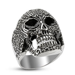 Day of The Dead Stainless Steel Ring - Highway Thirty One