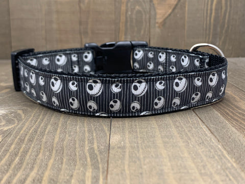 Nightmare Before Christmas Striped Jack Pet Collar