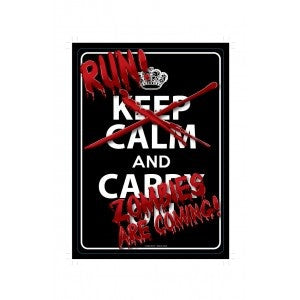 Run Zombies are Coming - Metal sign - Highway Thirty One