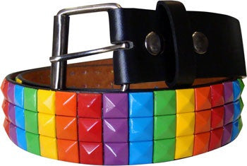 Metal Studded Rainbow Belt - Highway Thirty One