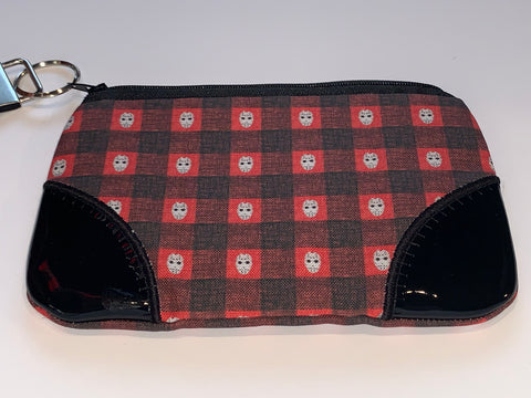 Jason Red Buffalo Plaid Wristlet