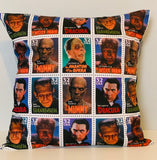 Vintage Horror Pillow cover 16 x 16""
