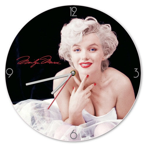 "Marilyn Monroe 13.5"" Cordless Wall Clock - Highway Thirty One"