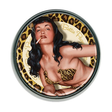 Bettie Page™ Golden Leopard Retro Belt Buckle - Highway Thirty One