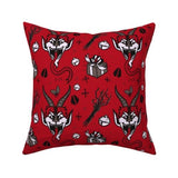 Krampus Christmas Pillow 16 x 16""