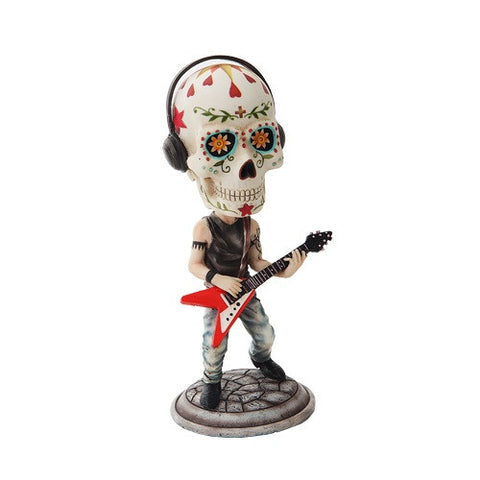Day of the Dead Bobblehead Guitar Player - Highway Thirty One
