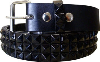 Metal Studded Black Belt - Highway Thirty One