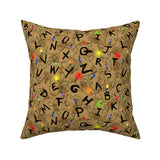 Right There Stranger Things Decorative Pillow cover 16 x 16""
