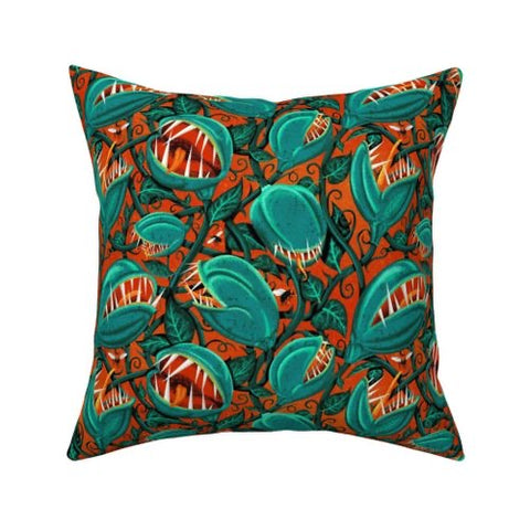 Venus Flytrap Pillow 16 x 16""