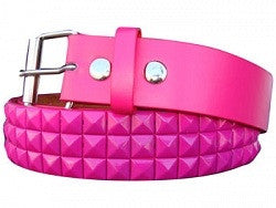 Metal studded belt - Pink - Highway Thirty One