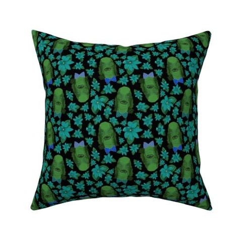Creature from the Black Lagoon Pillow cover 16 x 16""