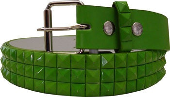 Metal Studded Green Belt - Highway Thirty One