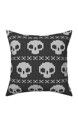 Skull Sweater Christmas Pillow 16 x 16""