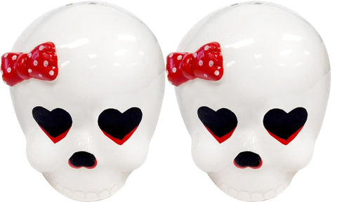 Girls Skull Salt & Pepper Shakers - Highway Thirty One
