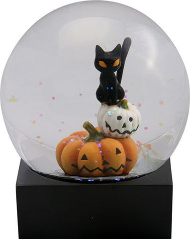 Black Cat and Pumpkins Water Globe - Highway Thirty One