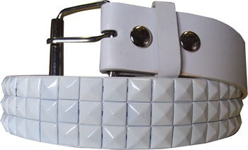 White Metal Studded Belt - Highway Thirty One
