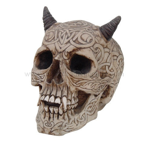 Celtic Skull with Horns - Highway Thirty One