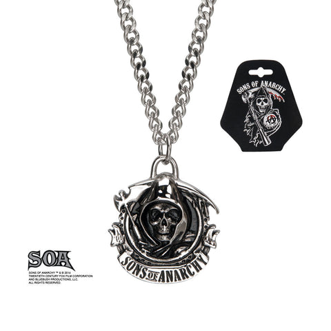 Sons of Anarchy Stainless Steel Pendant - Highway Thirty One - 1