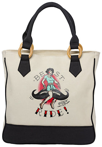 Sourpuss Best Ride Tote Bag - Highway Thirty One