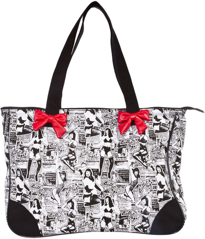 Sourpuss Bettie Page Collage Tote - Highway Thirty One