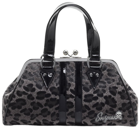 Sourpuss Temptress Gray Leopard Purse - Highway Thirty One - 1