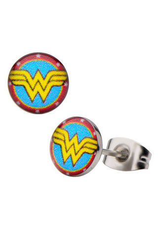 Pair of Stainless Steel Wonder Woman Earrings - Highway Thirty One - 1