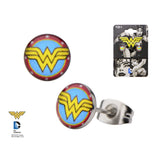 Pair of Stainless Steel Wonder Woman Earrings - Highway Thirty One - 2