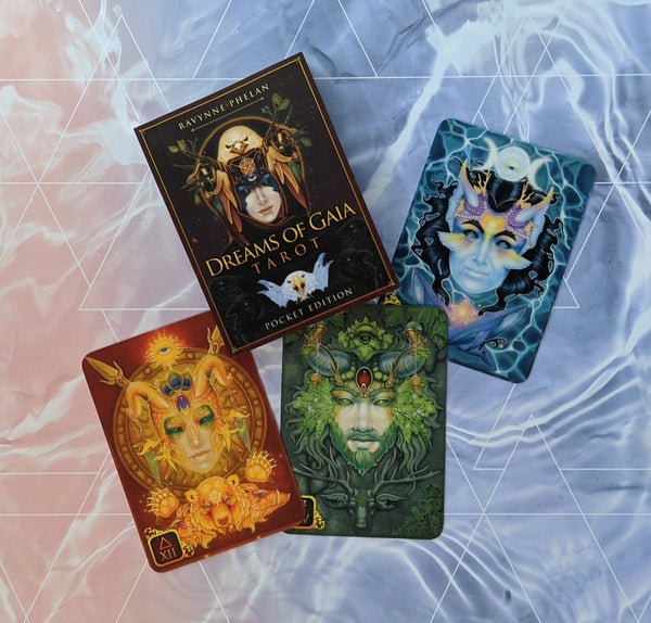 "Dreams of Gaia Pocket Edition (3 x 4"") Tarot  Card Deck with Guidebook"