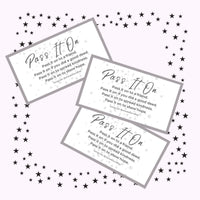 Pass it On Cards | Printable | Digital Download | Pay it Forward | Kindness