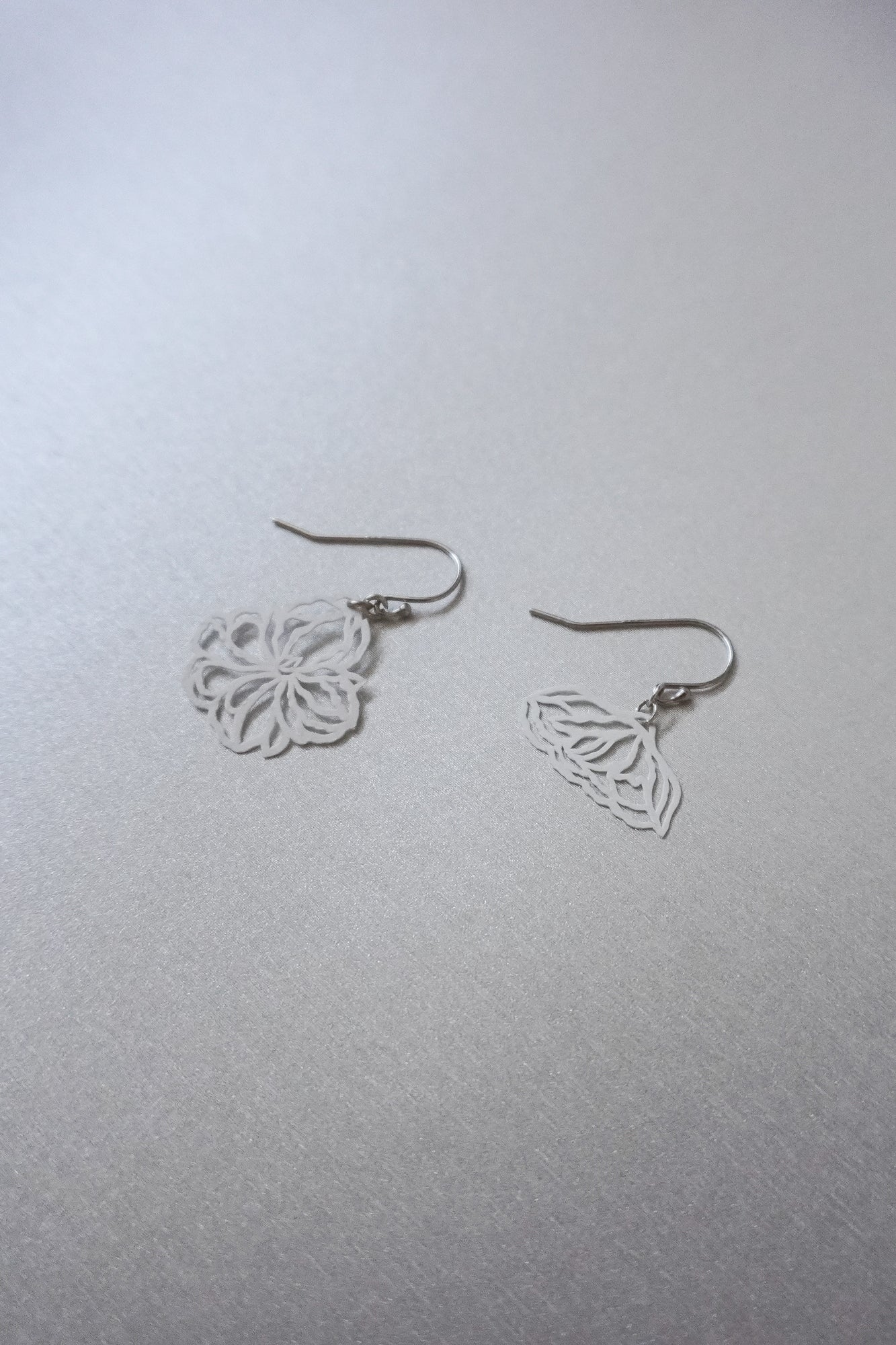 Dainty October Floral Mismatched Dangles