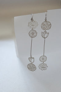 Classic Quadruple Floral Slender Dangle