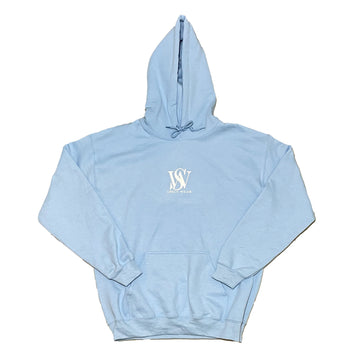 Sky Blue- Classic Poly/Cotton Logo Hoodie