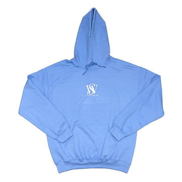 Light Blue- Classic Poly/Cotton Logo Hoodie