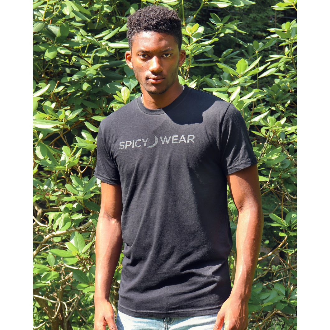 Black/Black Classic T-shirt - Spicy Wear