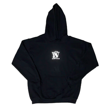 Black Reflective- Classic Poly/Cotton Logo Hoodie