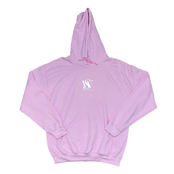 Pink- Classic Poly/Cotton Logo Hoodie
