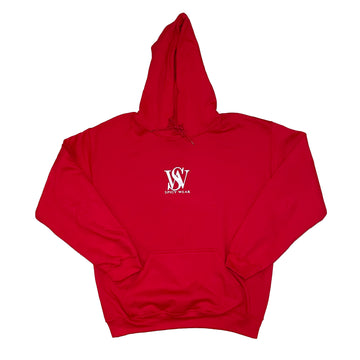 Red- Classic Poly/Cotton Logo Hoodie