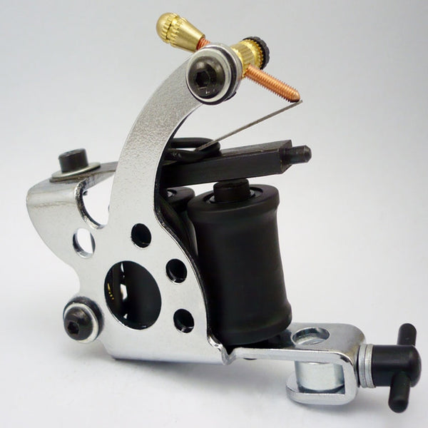 Chrome Tattoo Machine For Beginner Tattoo  Machine 10 Warps Coil Guns For Liner and Shader Free Shipping TM 361 on AliExpress - 11.11_Double 11_Singles' Day