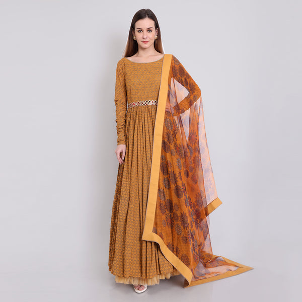 Anarkali Gown (Yellow)