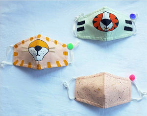 Hand Painted Masks for Kids - Safari (Set of 3)
