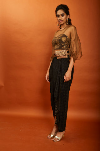 Pleated Skirt With Crop Top Set