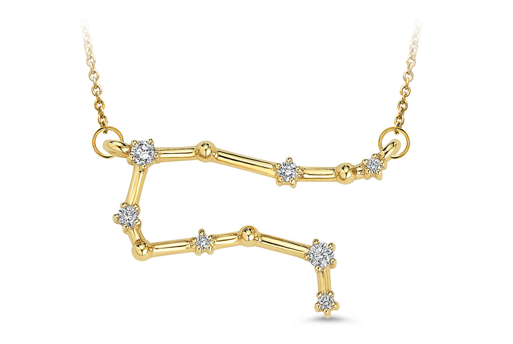 Gemini Constellation Diamond Pendant