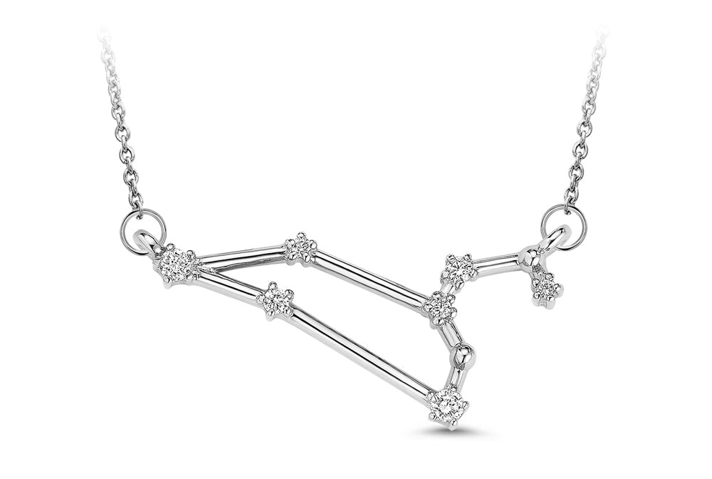 Leo Constellation Diamond Pendant