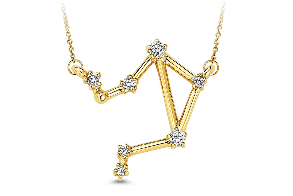 Libra Constellation Diamond Pendant