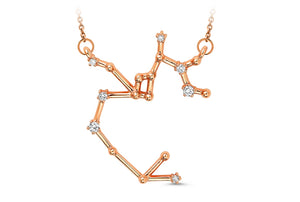 Sagittarius Constellation Diamond Pendant